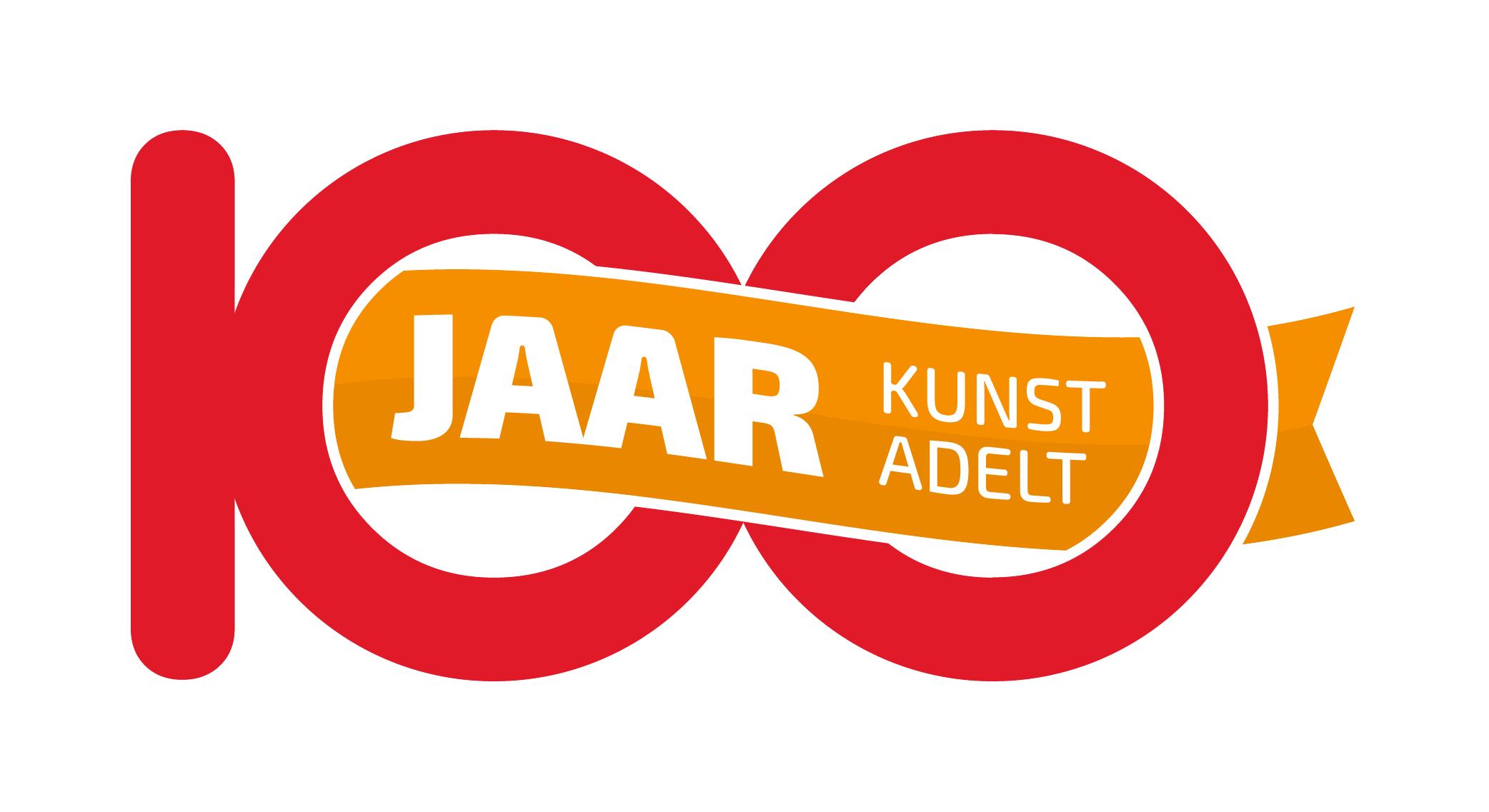 Logo Kunst Adelt 100 jaar